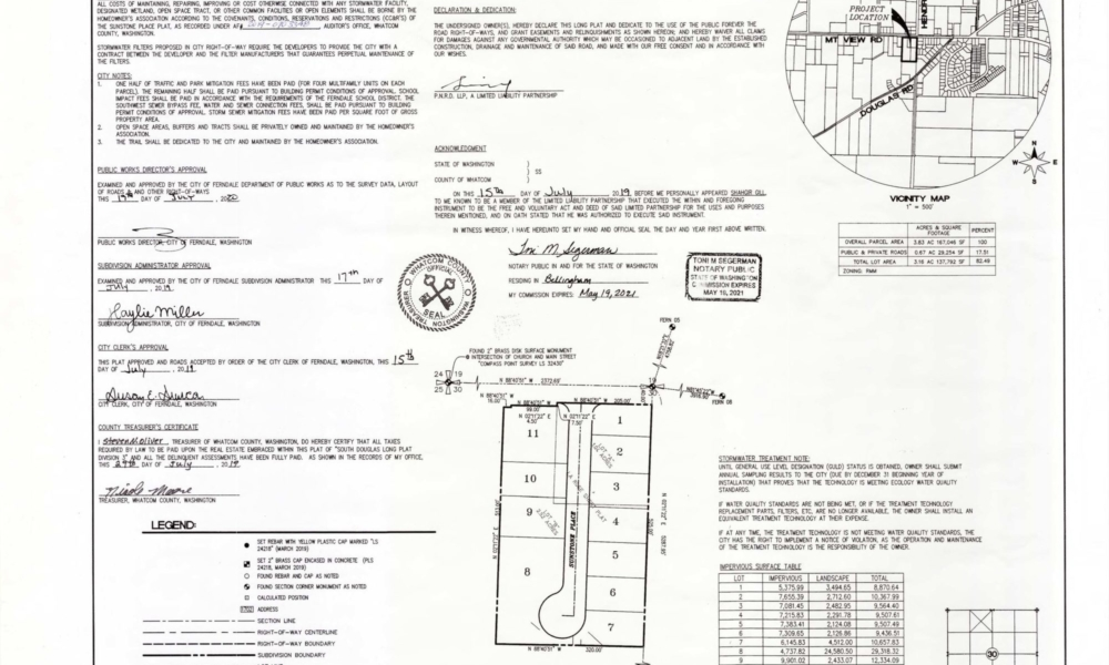 Sunstone Place Plat 07.30.19 Page 1